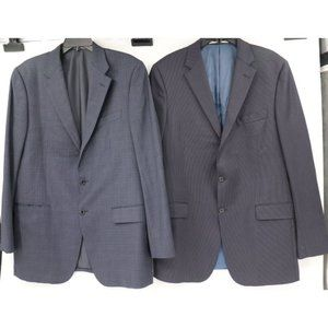 Lot of 2 Hickey Freeman mens 42L worsted wool coat